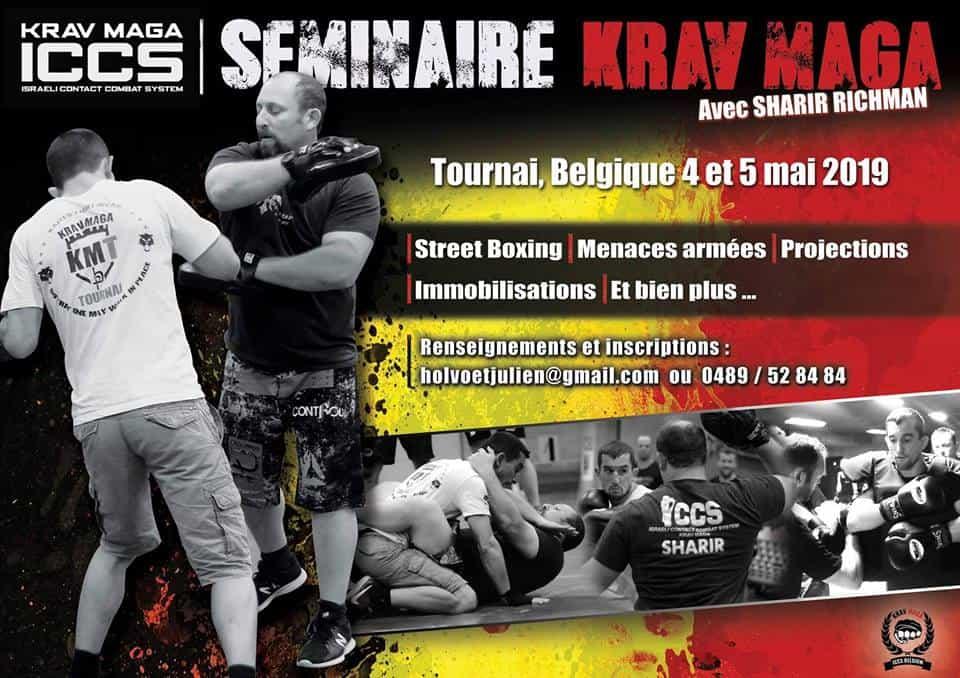Stage iccs Belgique tournai 052019 - Stage Krav Maga ICCS – Tournai – Belgique – Mai 2019
